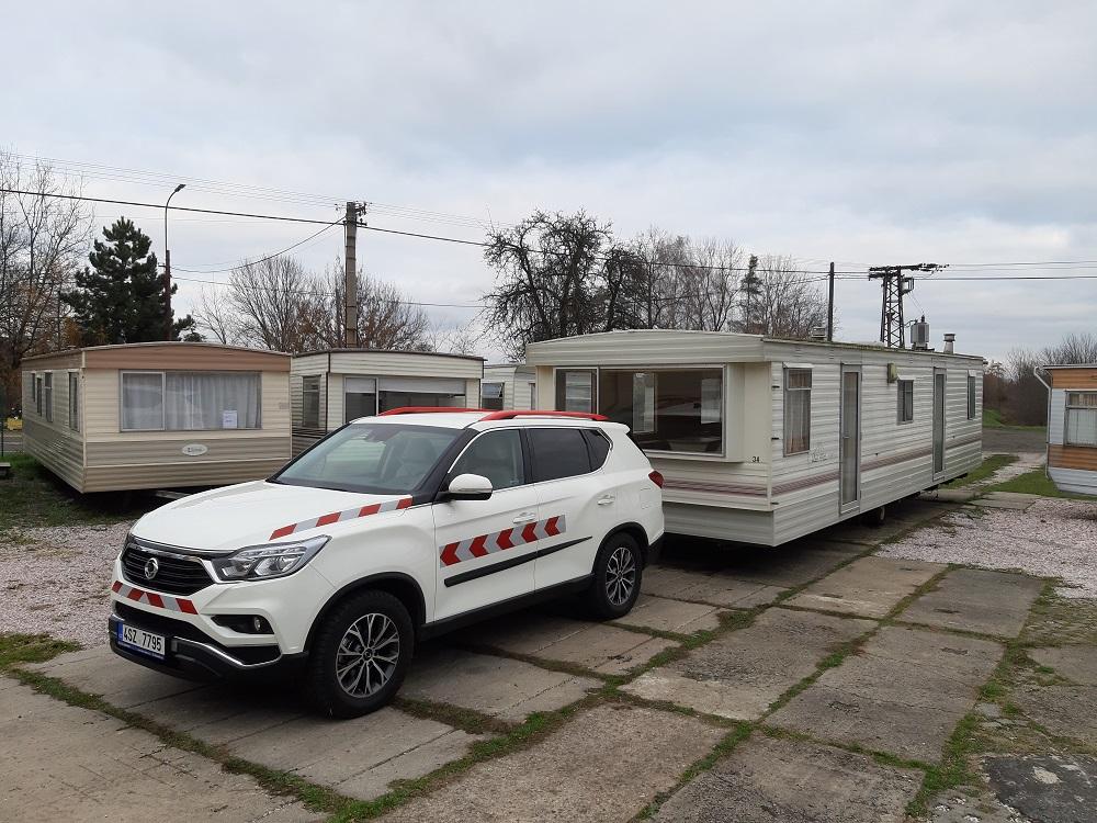 Nová posila v našem autoparku pro dopravu a vykládku mobilních domů